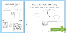Finish the Scene Cutting Skills Activity Sheets