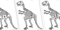 100 High Frequency Words on Dinosaur Skeletons