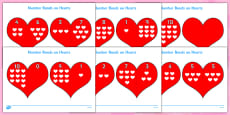 Valentine's Day Number bonds to 10 (on Hearts)