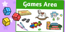 Games Area Sign