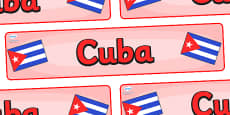 Cuba Display Banner