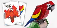 Parrot Paper Model
