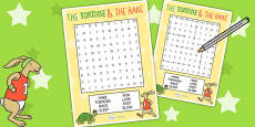 The Tortoise and The Hare Wordsearch