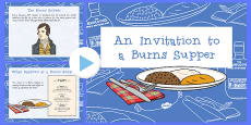 An Invitation To A Burns Supper Lesson Presentation