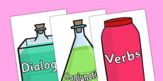 Potion For Story Writing Success Display Posters