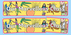 Our Marvellous Class Display Banner English Medium