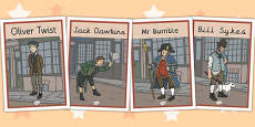 Oliver Twist Display Posters