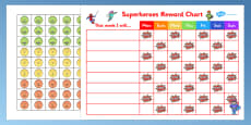 Superheroes Reward Sticker Chart