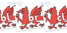 Initial Letter Blends on Welsh Dragons