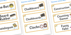 Cheetah Themed Editable Additional Classroom Resource Labels