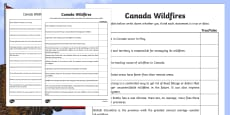 Alberta's Wildfire Canadas Wildfires True or False