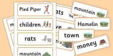 The Pied Piper Word Cards