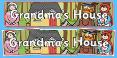 Little Red Riding Hood Grandma's House Display Banner