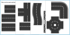 Printable Road Pieces