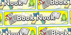 Book Nook Display Banner