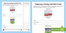 * NEW * Tipperary County and GAA Crest Activity Sheet
