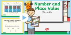 * NEW * Year 2 Number and Place Value Warm-Up PowerPoint