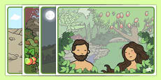 Adam and Eve Creation Story Sequencing