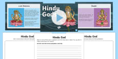 Hindu Gods Information PowerPoint and Worksheet Pack