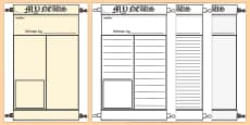 Roman Newspaper Writing Template