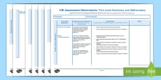 CfE Benchmarks Third Level Numeracy and Mathematics Assessment Tracker