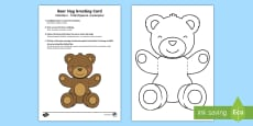 * NEW * Mother's and Father's Day Bear Hug Greeting Cards English/Romanian