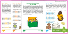 * NEW * Four ICW Toy Box Activity Sheet