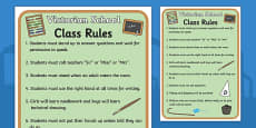 Victorian School Role Play Rules
