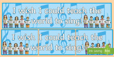 * NEW * I Wish I Could Teach The World To Sing Display Banner