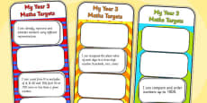 2014 Curriculum Year 3 Maths Target Bookmarks