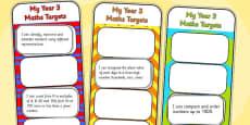 2014 Curriculum Year 3 Maths Target Bookmarks