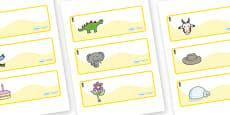 Pineapple Themed Editable Drawer-Peg-Name Labels