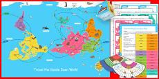 Christmas Around the World Universally Corrective Map Game