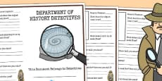 History Detective Sources Writing Frame