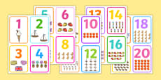 Number Picture Flashcards