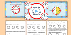 Telling the Time - Quarter Past Half Past Quarter to Differentiated Lesson Teaching Pack