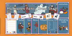 Halloween Fancy Dress Shop Role Play Pack