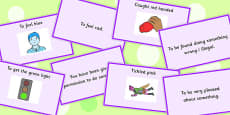 Colour Idioms Matching Cards