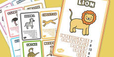 Safari Animal Card Game