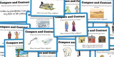 Guided Reading Skills Task Cards Compare and Contrast