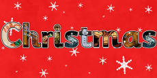 Christmas Photo Display Lettering