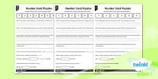 PlanIt Y6 Number and Place Value Number Card Puzzles Differentiated Home Learning