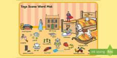 Toys Scene Word Mat