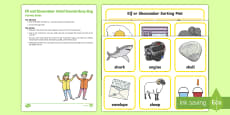 Initial Sounds Elf and Shoemaker e and sh Busy Bag Resource Pack for Parents