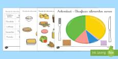 Actividad de clasificar: La alimentación sana
