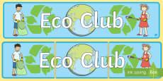 Eco Club Display Banner