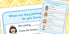 What are They Feeling and How Do You Know? Activity Sheet