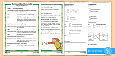 KS1 Jack and the Beanstalk Play Script Extracts Differentiated Go Respond Activity Sheets