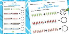 Peter Pan Up to 20 Addition Sheet