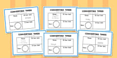 Converting Time Challenge Cards